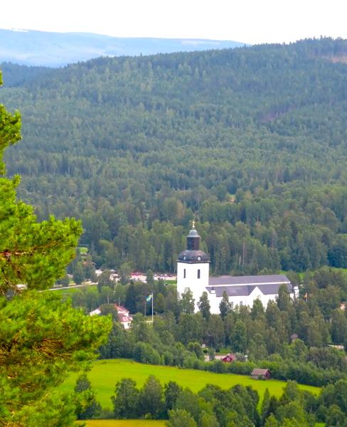 """Järvsö, """"Alltid-Vackert- Nära"""" ,Järvsö kyrka, kyrkön"""