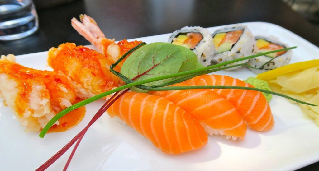 En god och varierad blandning med sushi