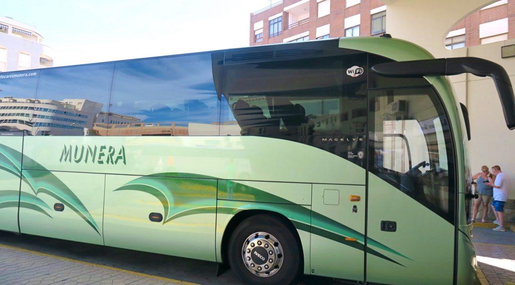 Mot Madrid per buss från Torrevieja