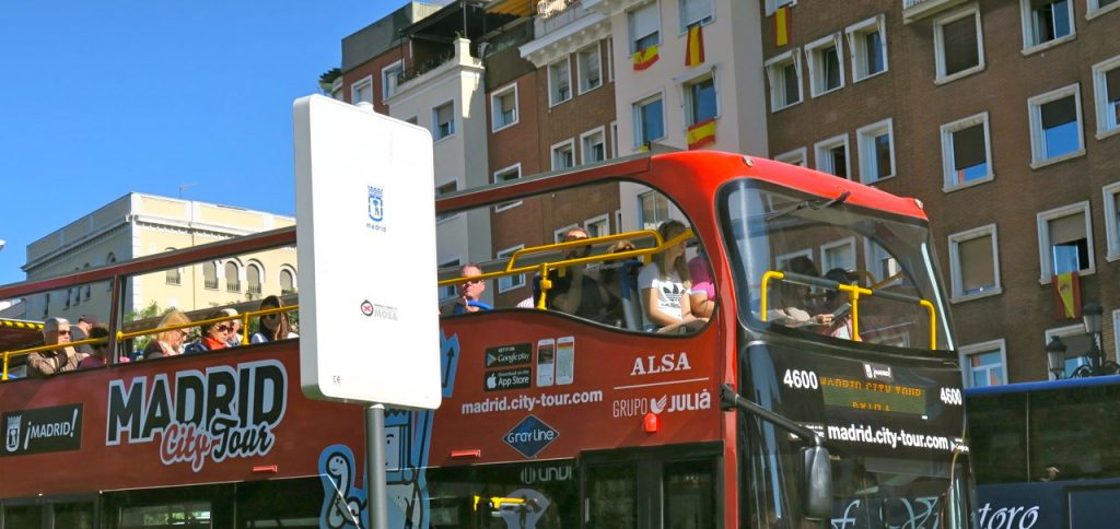 Hop On - Hop Off en stadstur i Madrid med buss