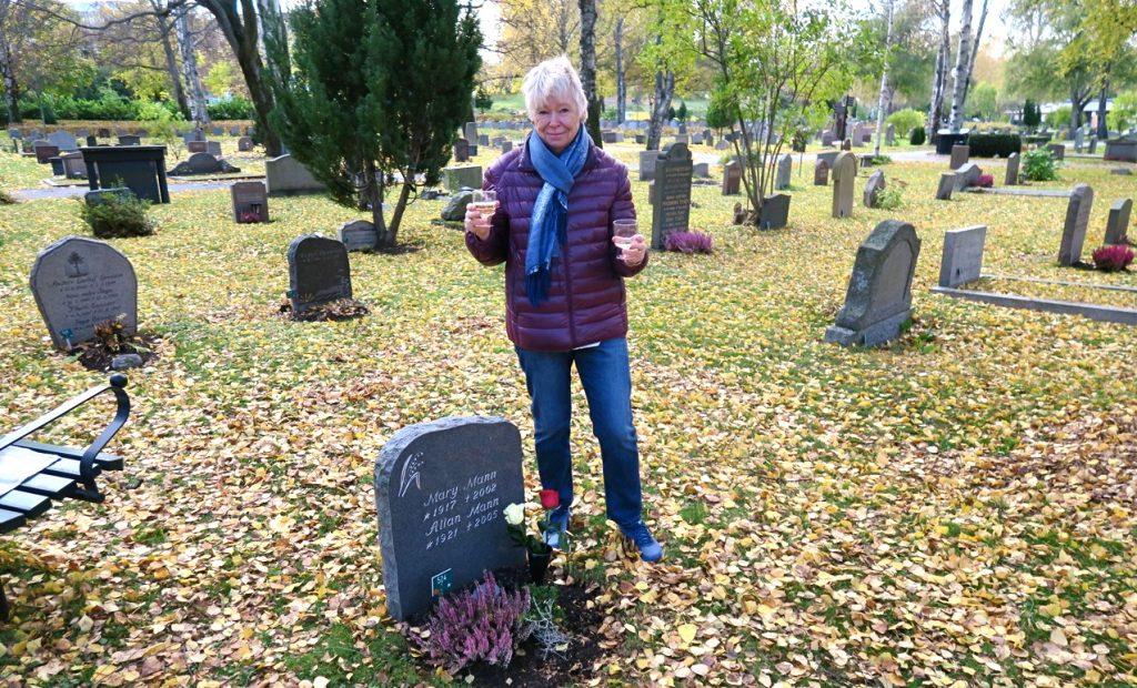 En speciell dag- min mamma skulle fyllt 100 år. Solna kyrkogård.