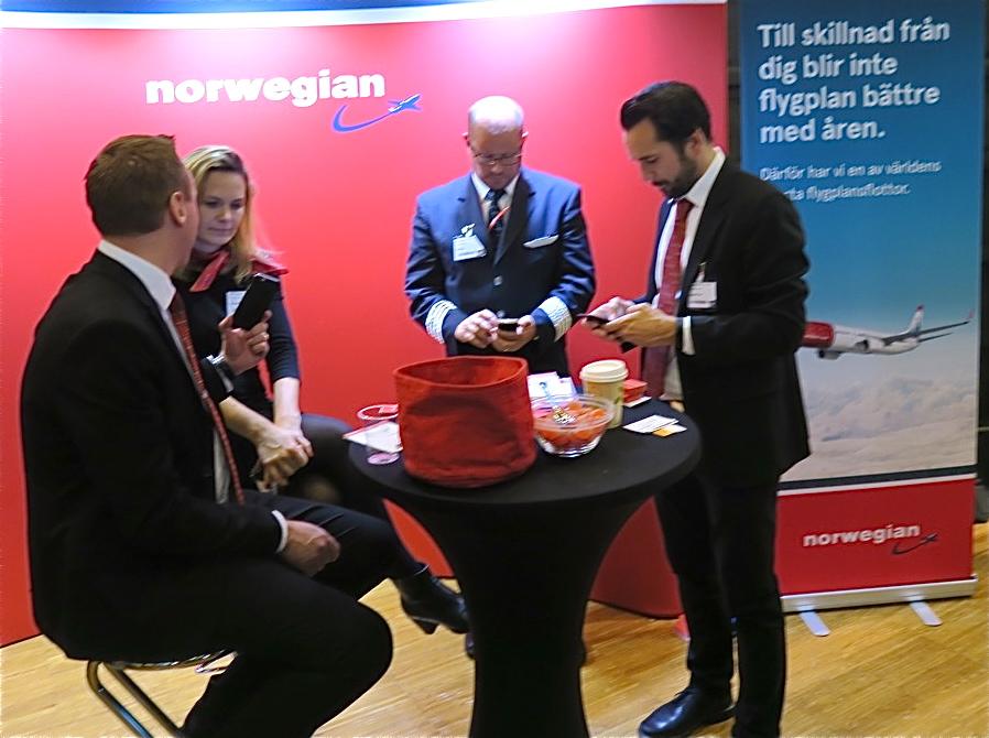 Flygbolaget Norwegian bjöd på trevligheter på flera områden