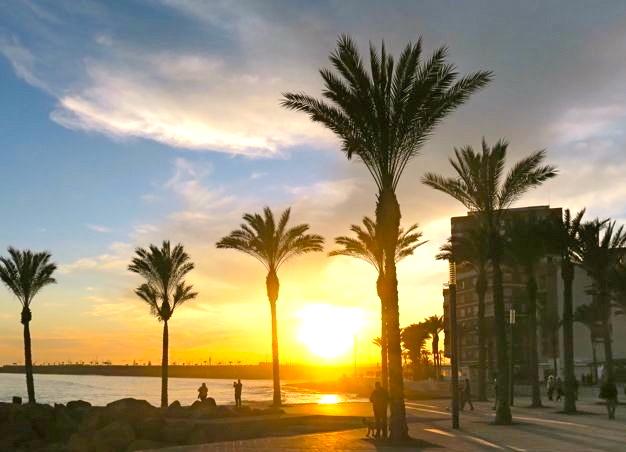 En mjuk och vacker solnedgång i Torrevieja