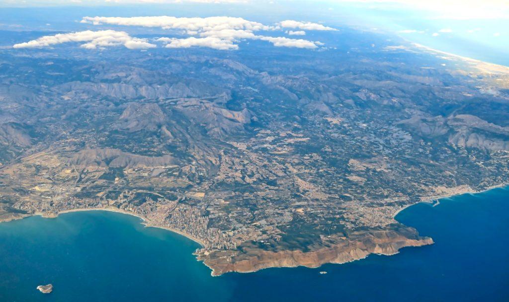 En flygande sväng blev det ut över Medelhavet