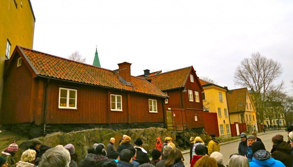 Dagens resa på Södermalm i Stockholm gick till fots.