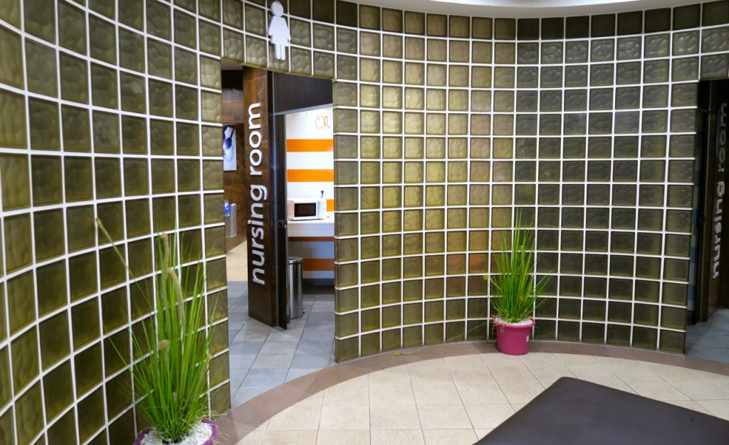 Många fina detaljer på toaletterna på shoppingcentrat La Zenia Boulevard.
