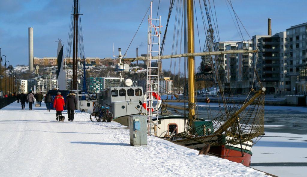 Även norra Hammarbykajen är vit.