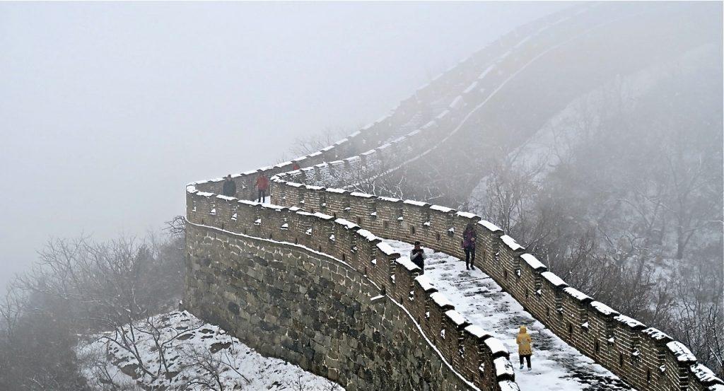 DEn kinesiska muren byffdes i omgångar från 300 f. Kr till början av 1600-talet