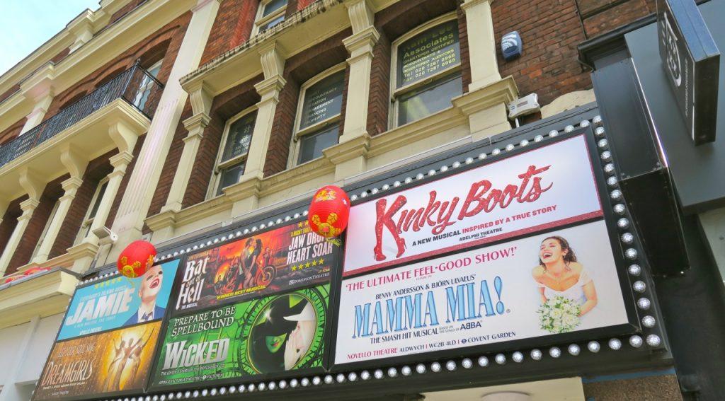 Londons Soho/West End är teater och nöjeskvarteren.