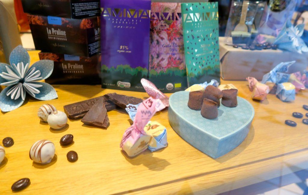 Mycket gott i butiken Chocolat i Uppsala