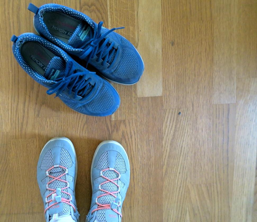 På listan över användbar hamnade sköna skor att gå i.