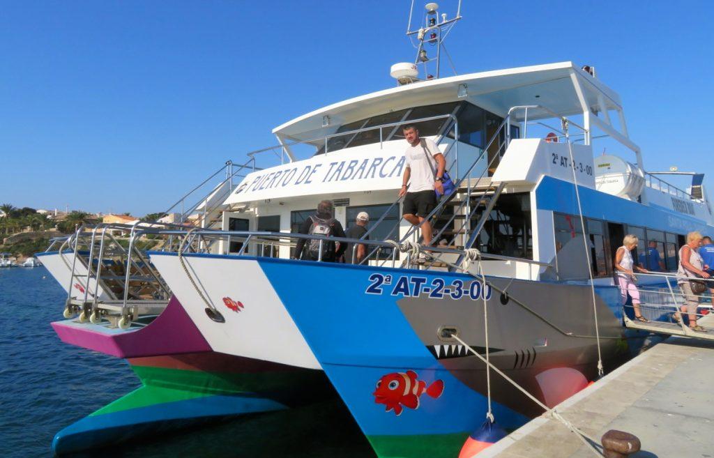 Vi kom till Tabarca med båt från St. Pola. En resa på 30 minuter.