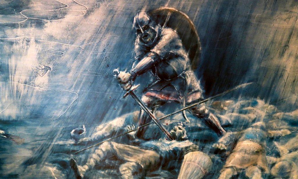 Vi gick på en väldigt bra guidad visning och fick lära om massor om vikingaliv.