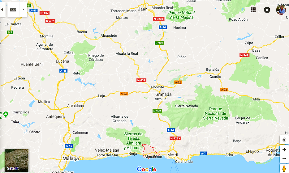Karta Spanien Granada.Tropisk Kust I Spanien Costa Tropical Ditte Akker