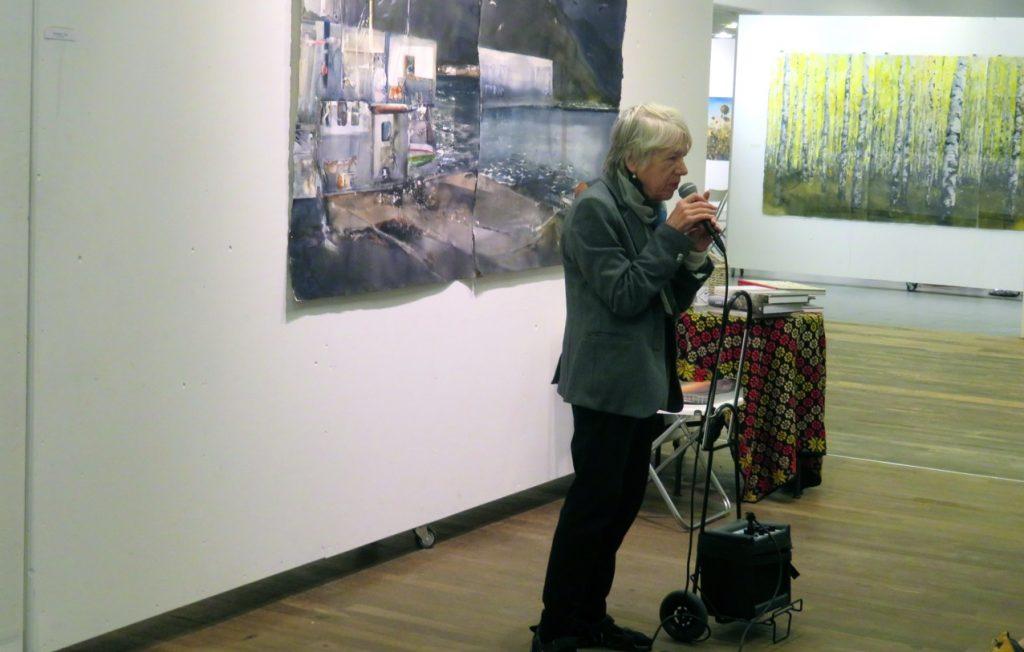 Vi får en inspirerande introduktion till både Sangrund och Lars Lerin av vår guide Karin Bodland.