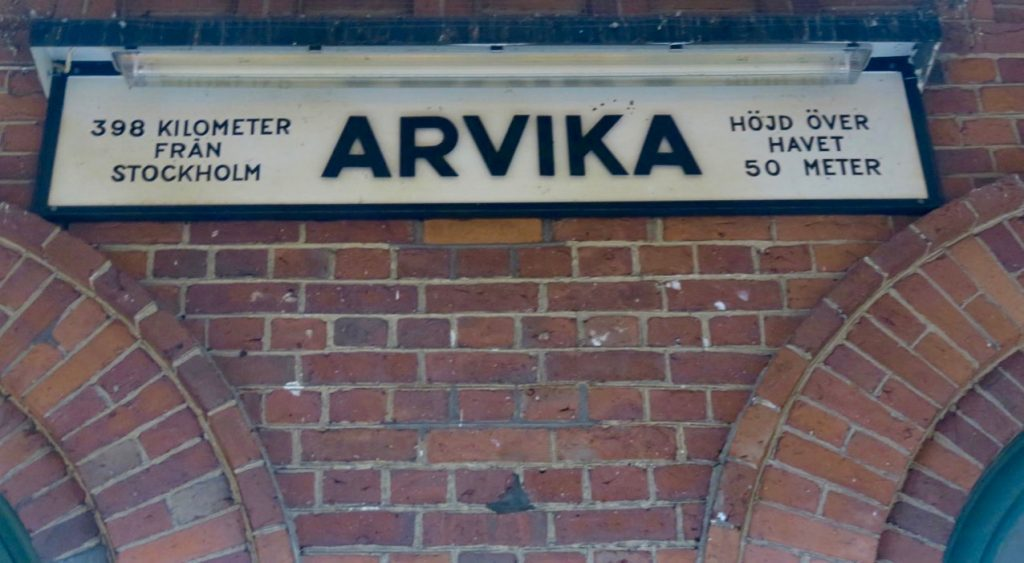 Arvikas stationshus invigdes 1867 då järnvägssträckan här till Oslo också var klar.