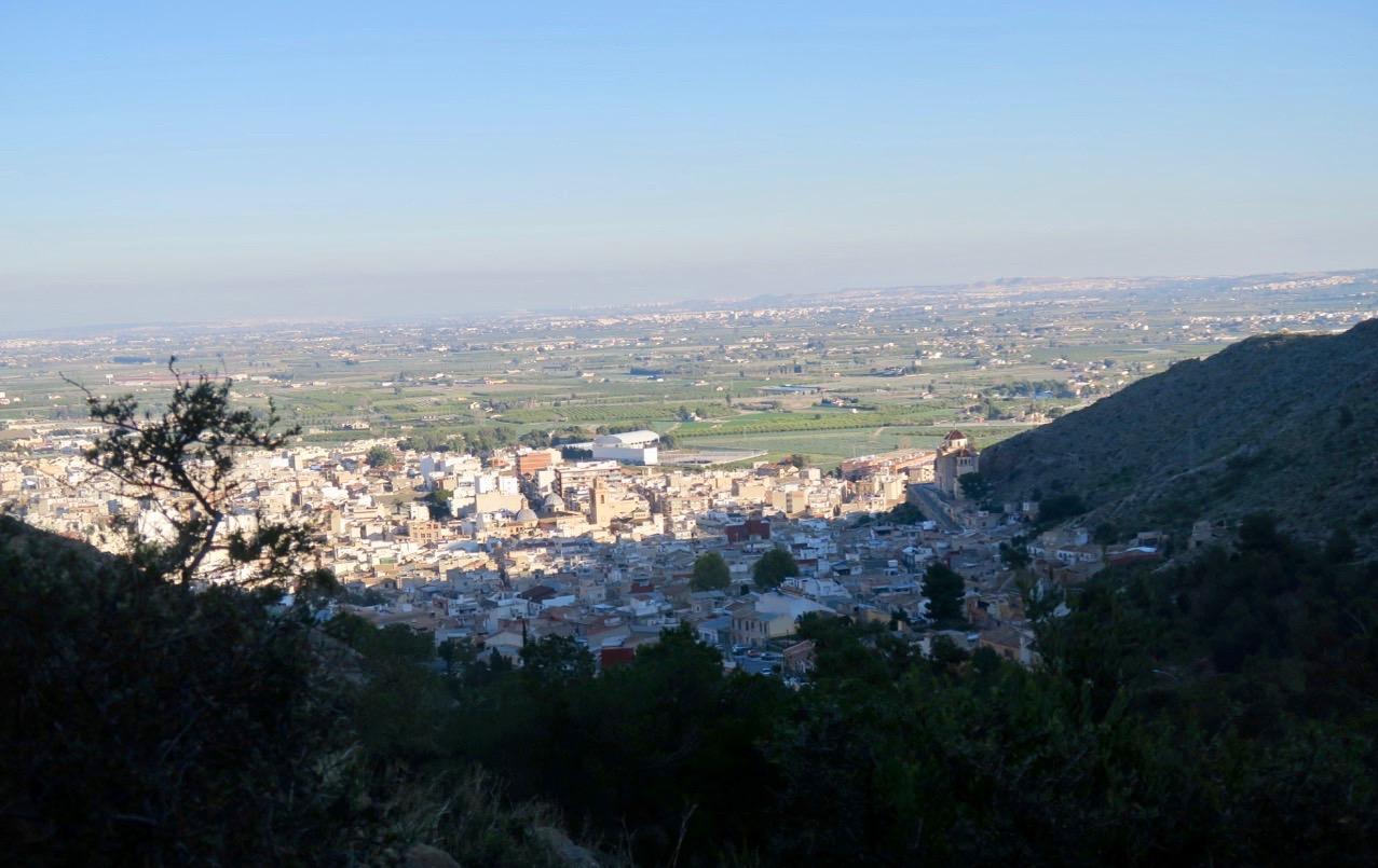 Berget Sierra de Callosa blev nästa stopp efter besöket i staden Callosa.