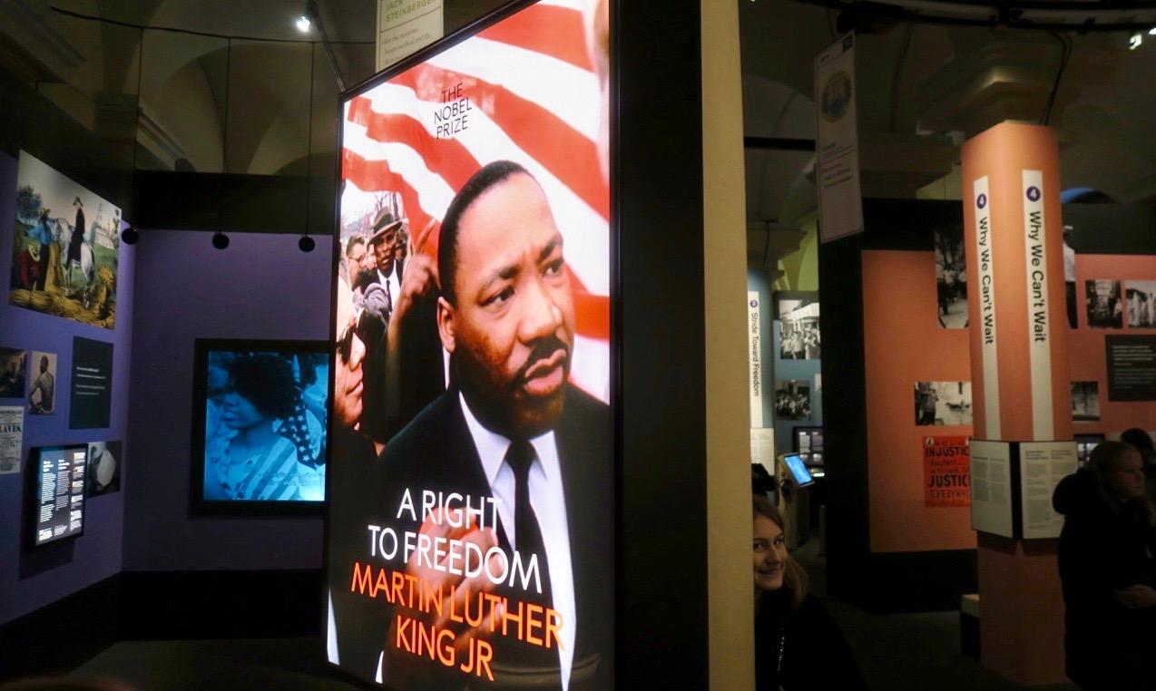 Utställningen om Martin Luther King finns att se på Nobelmuseet fram till september 2019