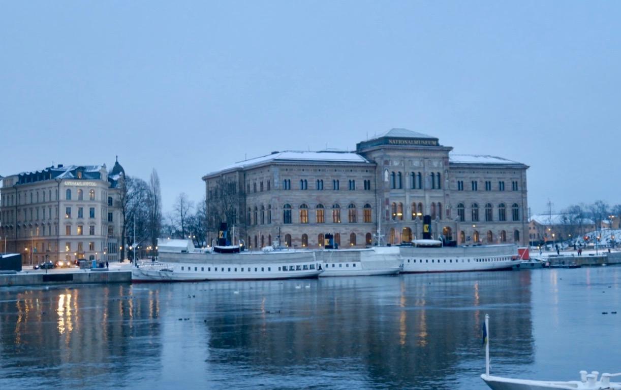 Under vår stsdavandring stannade vi till vid Hotell Lydnar till vänster i bild. Nazizternas tillhåll i Stockholm