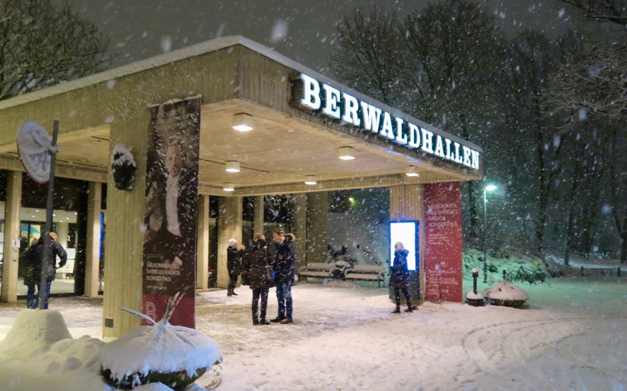 En festlig konsertkväll i Berwaldhallen i Stockholm.