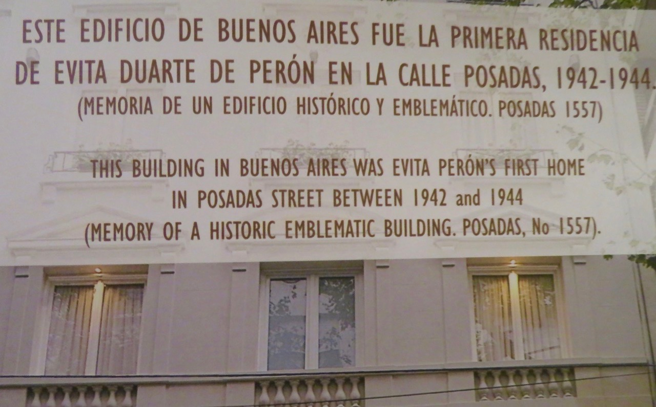 """Ett hotell som har sin speciella historia. Här bodde i två år ,1942-1944, Argentinas dåvarande """"first lady"""" innan hon blev presidenthustru."""