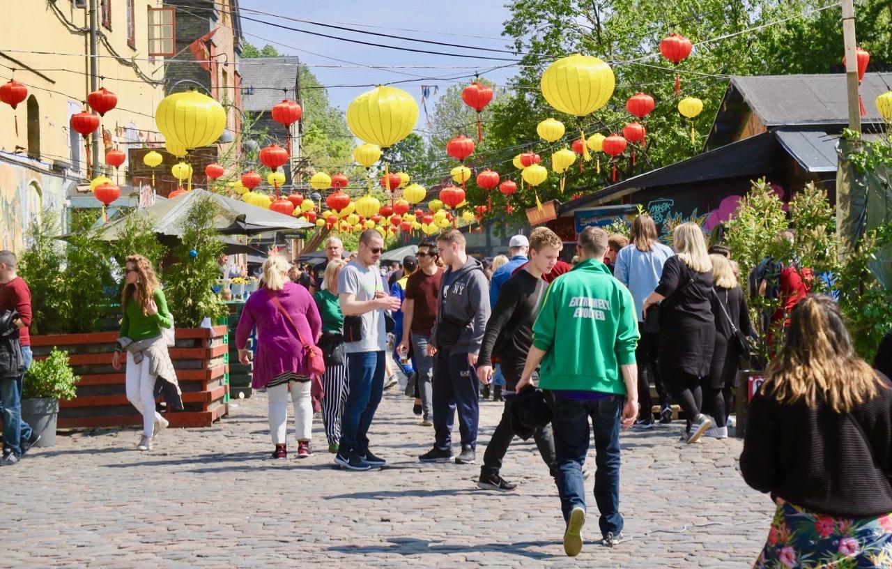 Mer av Köpenhamn. Frstaden Christiania lockar fortfarande många besökare.
