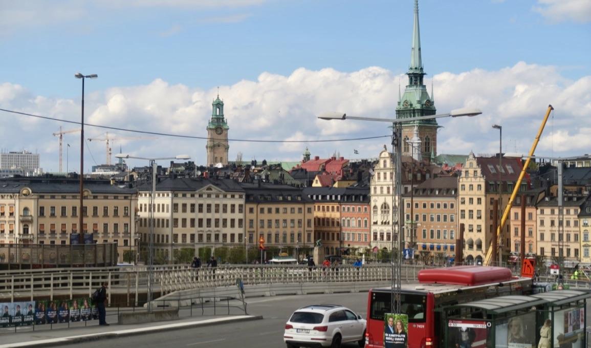 Vi från Stadsmuseet ner mot Gamla stan. Ett verkligt stycke Stockholmshistoria för det var här Stockholm grundades på 1200-talet.