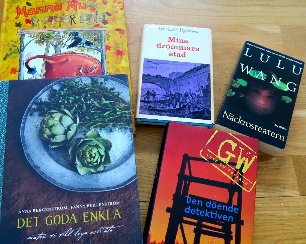 Läser i olika sammanhang, böcker, Per Anders Fogelström, Leif GW Persson