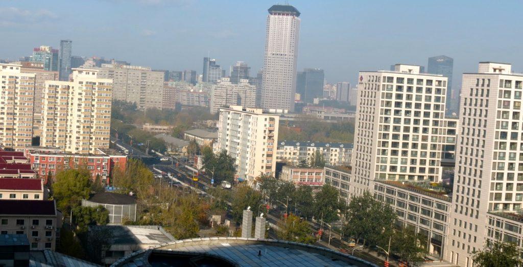 Peking med många hus och alla har en dörr eller flera.