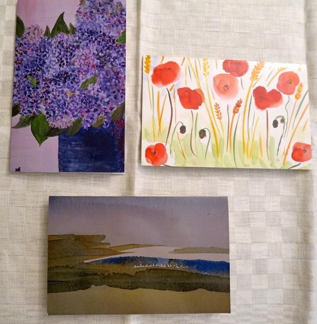 Inspirerande och varierande, kort i akvarell
