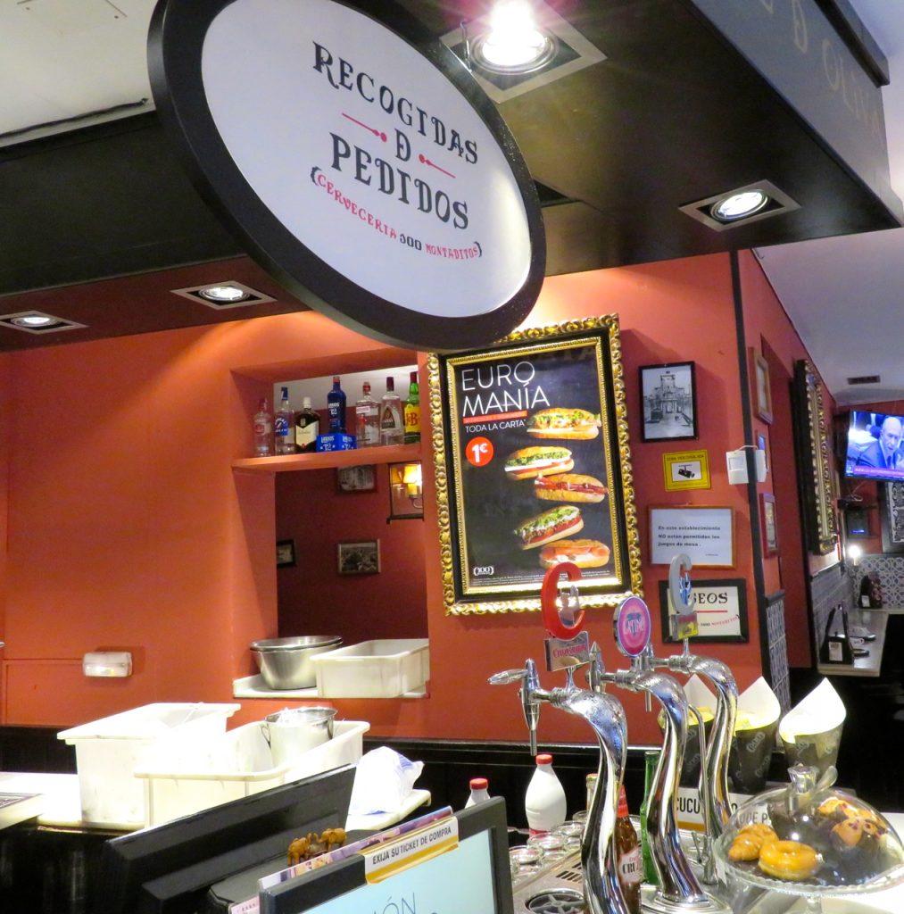 Skyltat från Madrid med vårt favoritfrukostställe , Euromania.