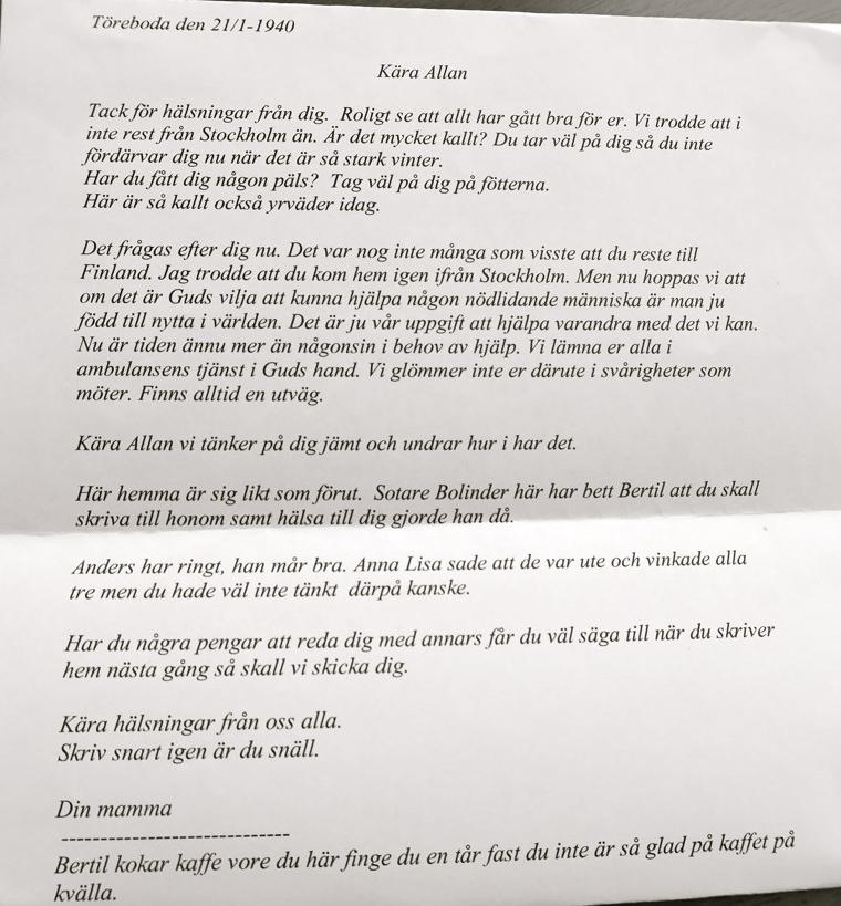 En text i form av ett brev.