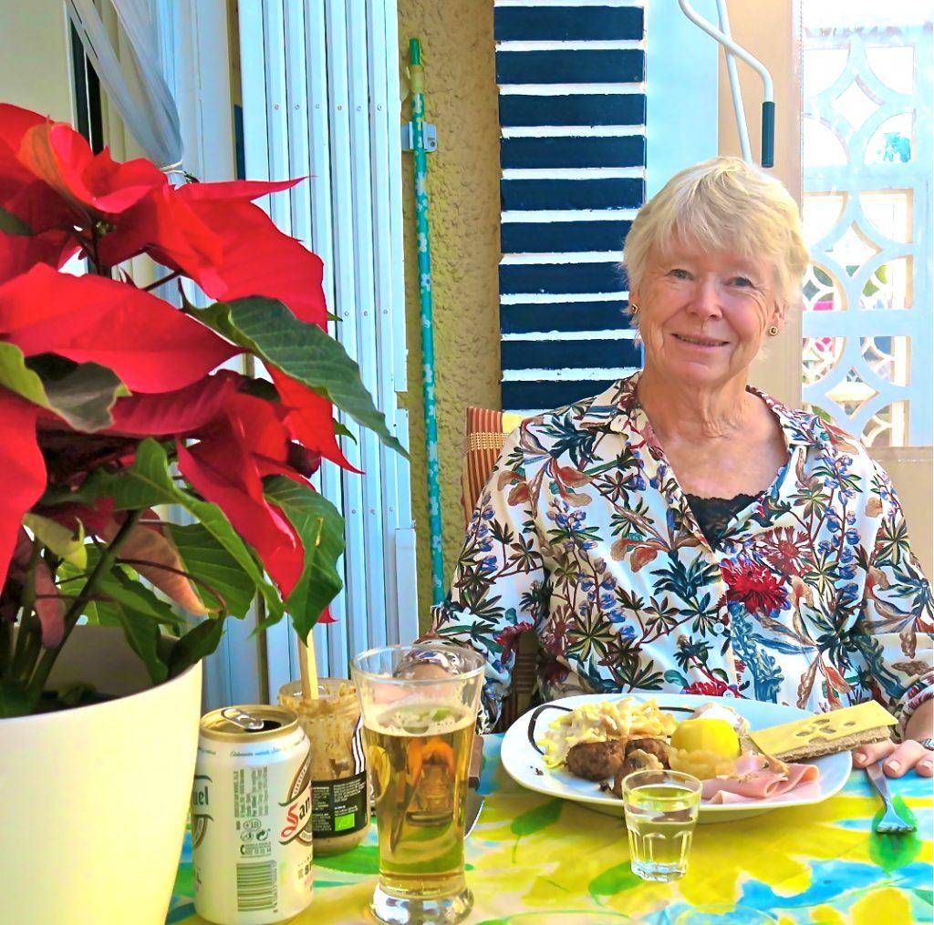 Premiär för julaftonens lunch i den spanska sommarstugan.