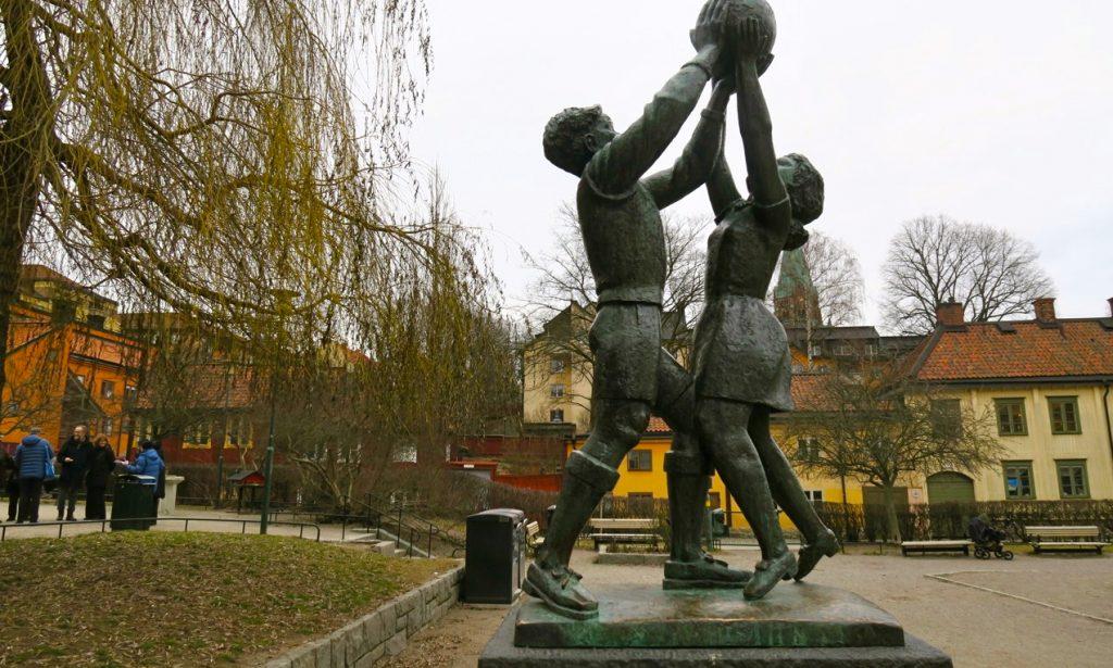 Dagens stadsguidning börjar på Nytorget på östra Södermalm.
