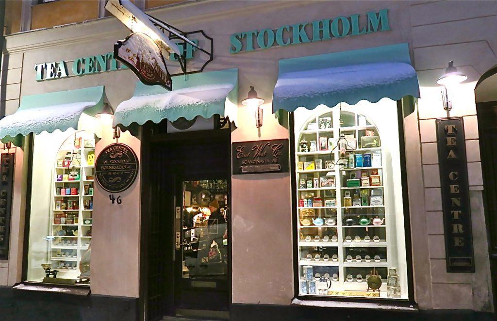En mycket välsorterad te-butik på Hornsgatan i Stockholm, The Tea Centre of Stockholm