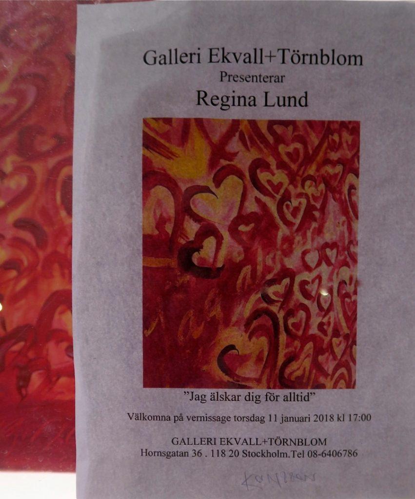 Galleri Ekvall+Törnblom presenterar Regina Lund