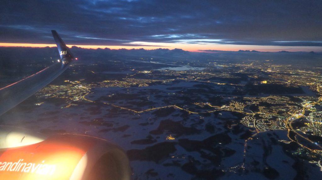 Spontan resa till Alivante. Här är Stockholm under vingarna.
