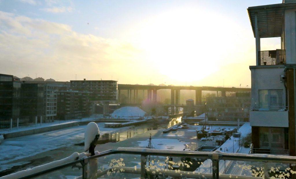 Hammarbykanalen med snö och kyla är inte favoriter bland mina godbitar