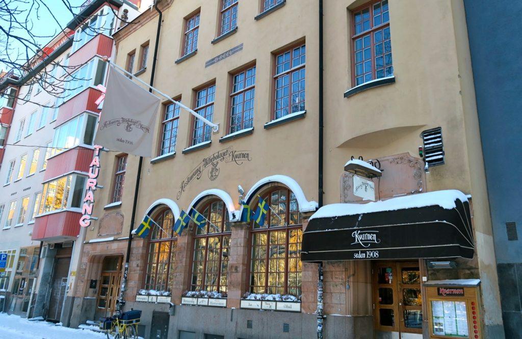 Resaturang Kvarnen på Tjärhovsgatan serbverar rejäla och matnyttiga måltide.
