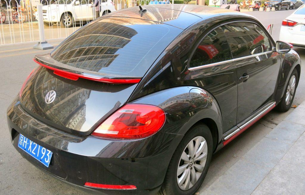 """En kinesiskregistrerad """"bubbla"""" från Volkswagen måste få vara med. på b"""