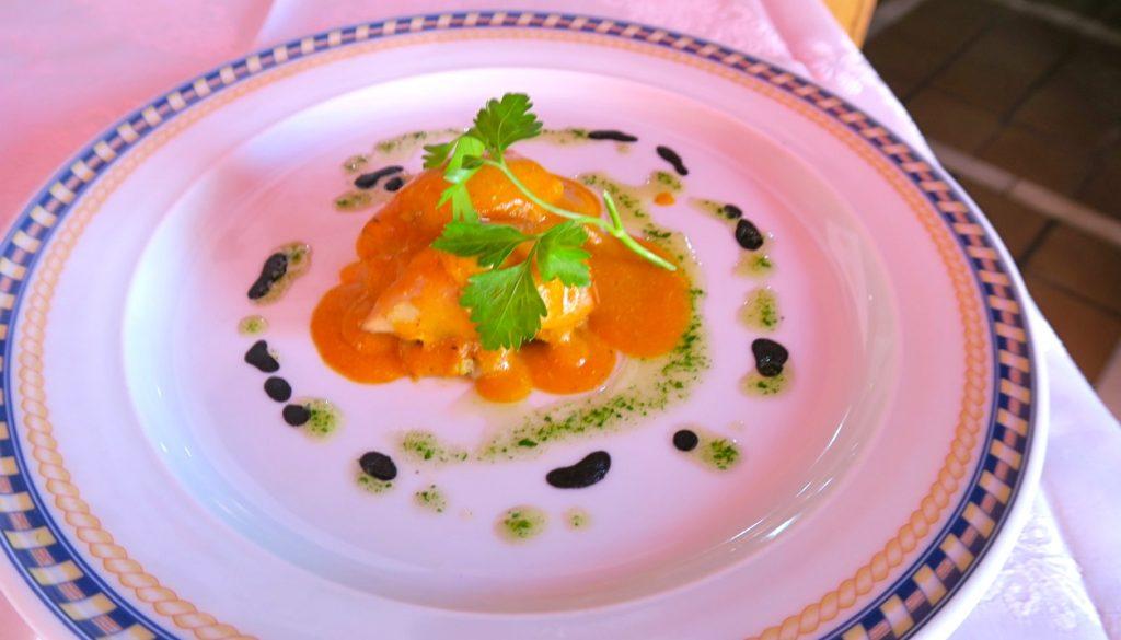REstaurang El Pescador erbjöd bla. fylld bläckfisk som tapa/smakprov.
