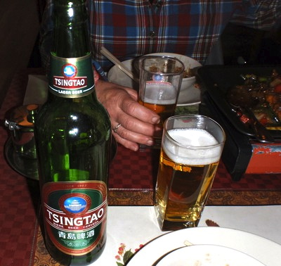 Tsingtao, det inhemska ölet är omtyckt i KIna.