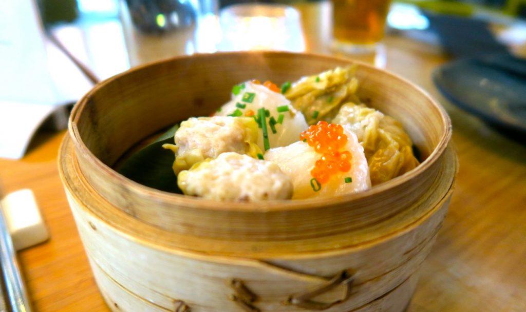 Genuin smak av kinesiska dumplings är så gott.