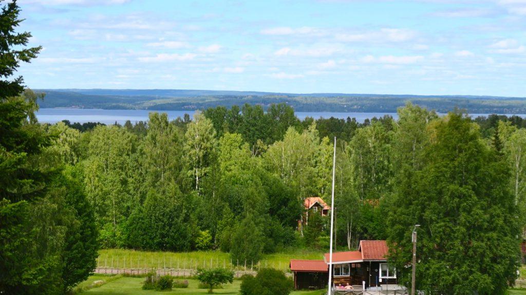 Vacker upplevelse att blicka ut från mitt hotellrum i Tällberg.