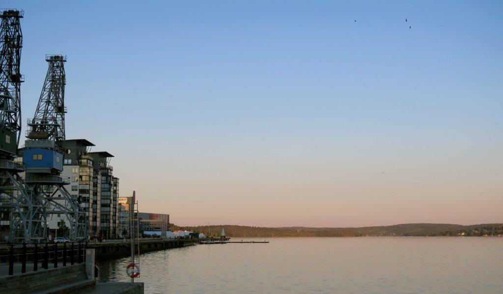 Örnsköldsvik och utsikt från hotellet