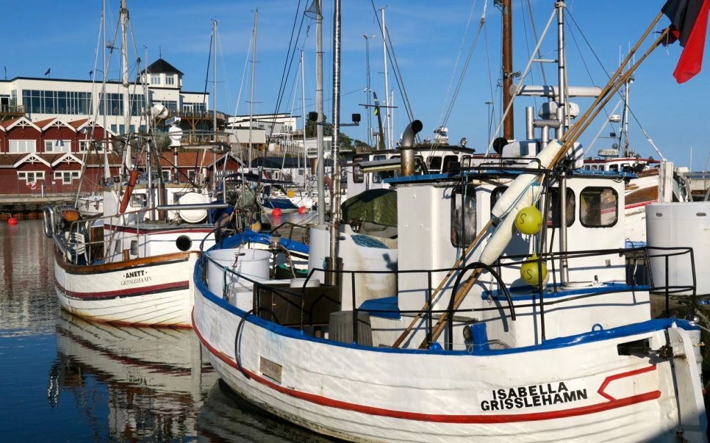 Fiskehamnen/Yttre hamnen i Grisslehamn.
