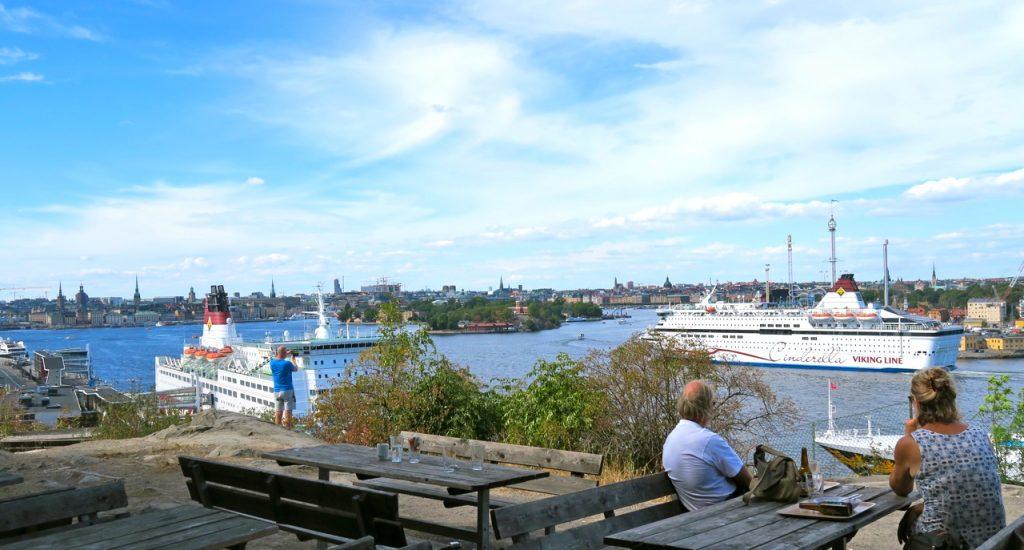 """Vy över Stockholm från """"Fåfängan"""""""