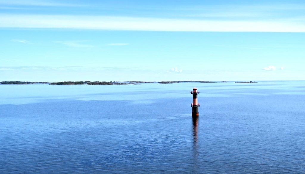 Dagstur över till Mariehamn på Åland. Vackert ute på Ålands hav.