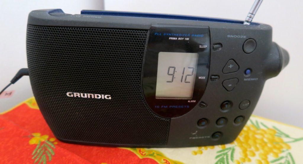 DEn gamla transistorradion från 1980-talet är fortfarande fullt användbar.