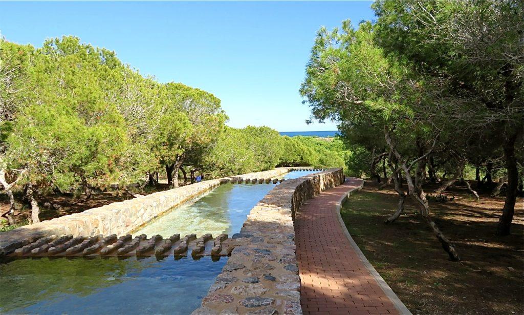Vattenhjulsparken ligger på vägen till La Mata och är en av våra favoriter att besöka.